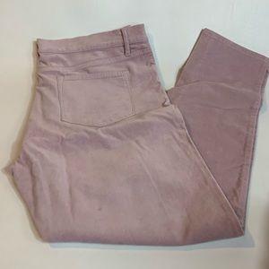 Loft Outlet Blush Modern  Skinny Faux Suede Jeans